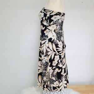 The Limited Dresses - Strapless tropical print dress